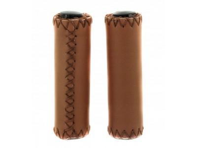 Грипсы велосипедные коричневые эко кожа