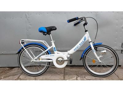 """НОВЫЙ Складной велосипед WEST bike 20""""втулка  производства Чехия (VeloSteel)"""