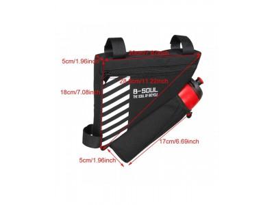 Сумка в раму B-Soul BAO-009BLK, карман для фляги