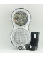 Передний вело фонарь YG-QD-118  3 LED  для динамовтулки