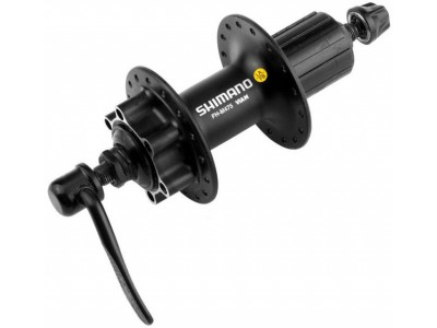 Втулка задняя SHIMANO FH-M475L, 14Gx36H DISK, под касету, QR, черная