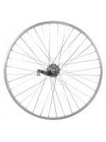 """Заднее алюминиевое велосипедное колесо 28""""  VELOSTEEL с педальным тормозом"""