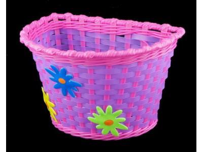 Велокорзина детская с цветами