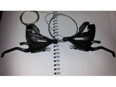 Комплект, моноблоки с ручками Shimano ACERA ST-EF65 -7speed і 3speed