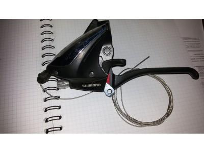 Переключатель полуавтомат моноблок с ручкой Shimano 3speed ST-EF60-L
